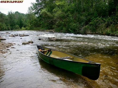 Canoe on Boardman River