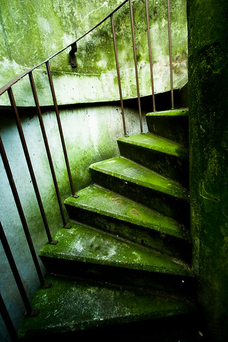 paris france green spiral concrete moss europe stair staircase humidity nogentsurmarne