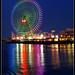 Ferris wheel across the water by susanNe (miichan)