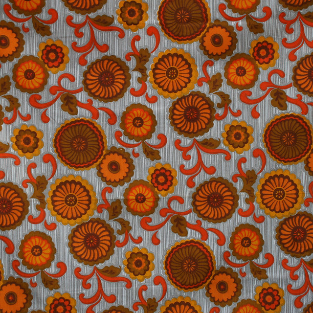 Vintage fabric 1970 39 s barkcloth flickr photo sharing for Retro space fabric uk