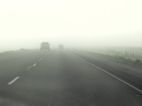 cars in fog