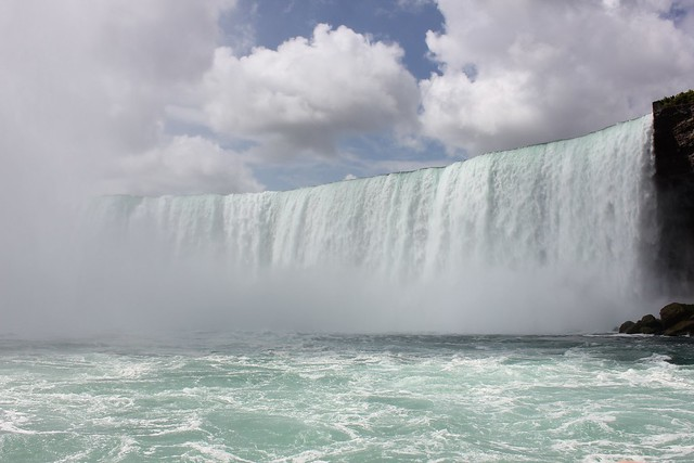 Picture of the Horsehoe Falls taken from the Maid of the Mist