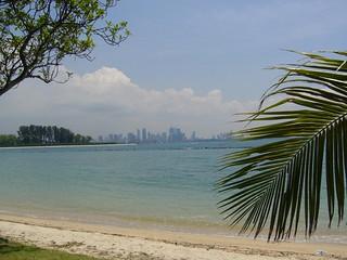 389 मीटर की लंबाई के साथ समुद्र तट की छवि. panorama beach island singapore singapour plage kusu