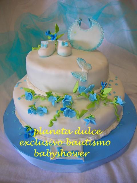 bautismo azul cake tortas decoradas artesanalmente con todos los ...