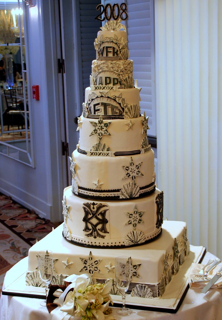 Happily Ever After New Years Wedding Cake Easily 4 Feet Flickr