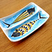 swedish modern ceramic fish dish