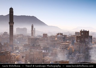Yemen - Sana'a - Morning mist over the old town