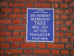 Photo of Herbert Beerbohm Tree blue plaque