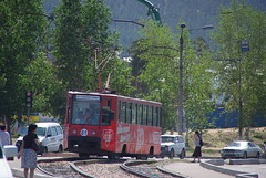 Ulan-Ude tram 71-608K 81 at newest tram line, opened in 2007