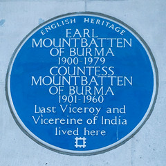 Photo of Louis Mountbatten and Edwina Mountbatten blue plaque