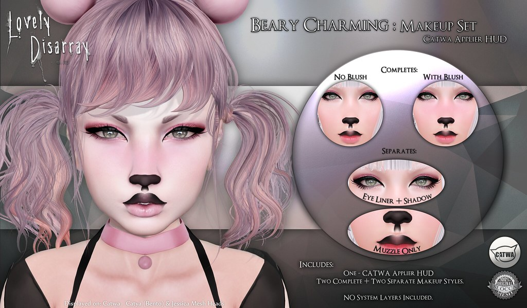 Lovley Disarray - Beary Charming - Makeup Set @ The Kawaii Project - SecondLifeHub.com