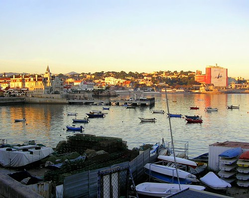 light sunset sea portugal water colors boats outdoors photography evening reflex marine warm colours exterior dusk details ships quay stillness cascais clearsky clearwater anawesomeshot travelerphotos