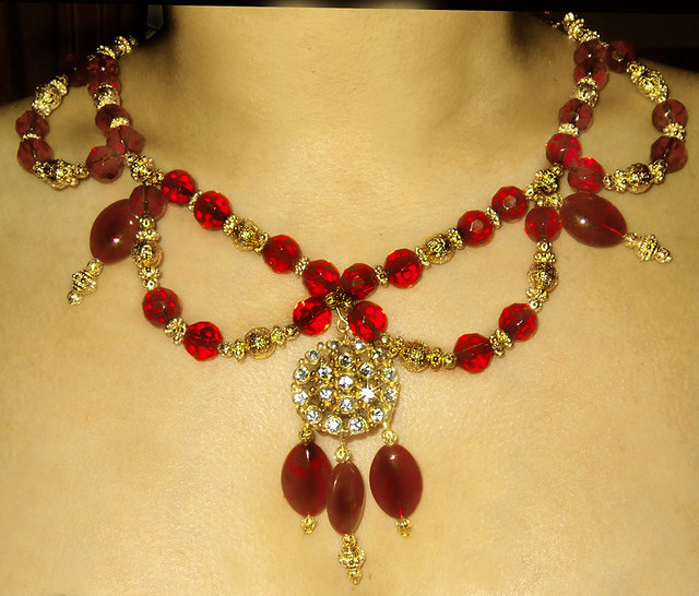 Lady In Red Indian Style Bridal Necklace Handmade Bridal Flickr