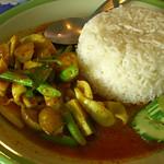 Thai Red Curry Squid with Rice - Krabi, Thailand