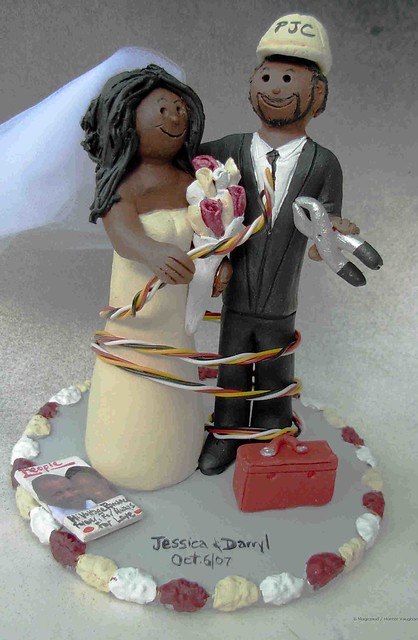 Electrician Cake Designs http://www.flickr.com/photos/customweddingcaketoppers/2472500894/