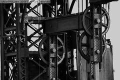 Machinery along the Hudson river