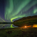 Camping under the Northern Lights in Northern Norway by Dan F Skovli