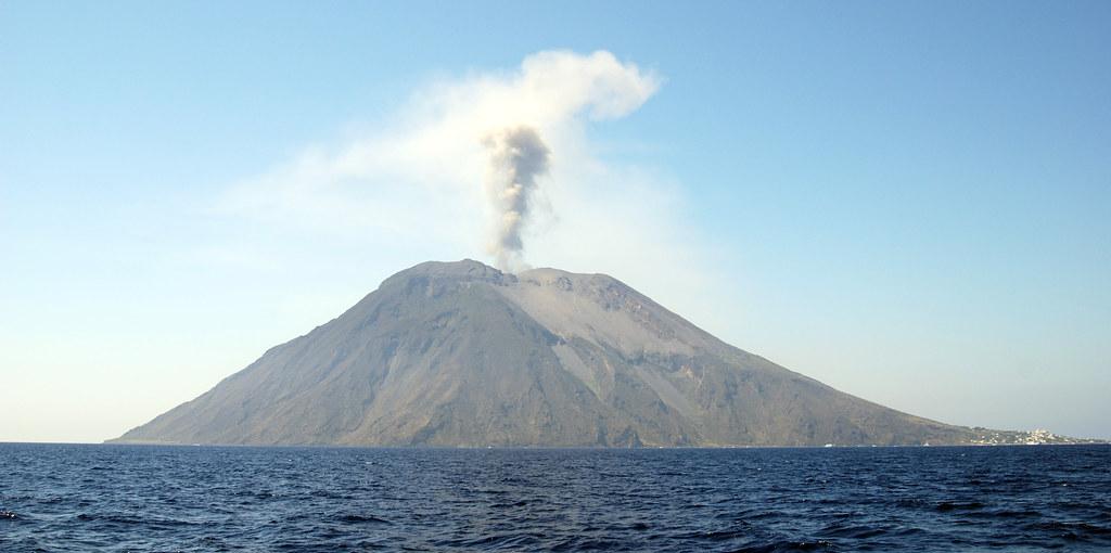 fumata dal vulcano