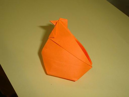 Origami Inflatable Hen
