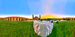 Bahria Town Community Mosque At Sunset In Lahore Pakistan - IMRAN™