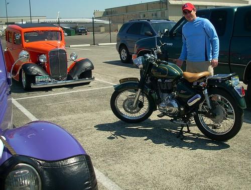 Eric & his Royal Enfield Motorcycle