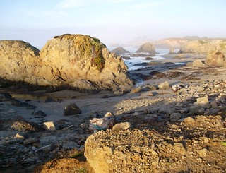 Rocks, sand and waves at Glass Beach near Fort Bragg, CA - glassbeach10