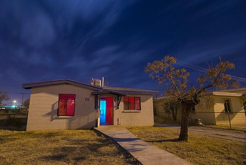 abandoned night texas neighborhood elpaso