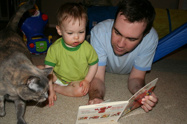 Jack Reading a Book with Dad