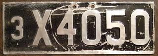AUSTRALIA, Tasmania 1943 passenger plate