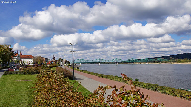 Wloclawek. Vistula river. Promenade
