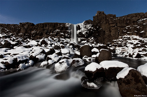 Winter Perspective - Öxarárfoss, Þingvellir National Park - Iceland