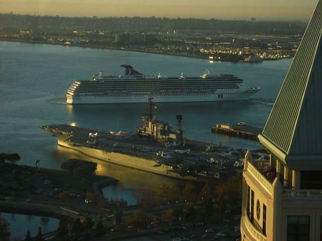 Cruise Ship And Aircraft Carrier  Flickr  Photo Sharing
