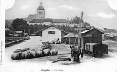 Chargement d'un train de marchandises à Orgelet