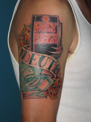 Flamboyan tattoo bible tattoos for Latin scripture tattoos