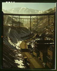 "Carr Fork Canyon as seen from ""G"" bridge, Bingham Copper Mine, Utah  (LOC) by The Library of Congress"