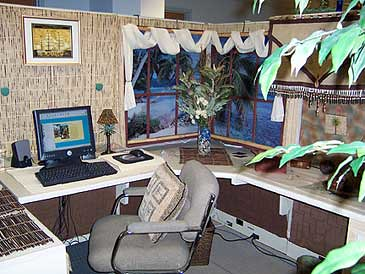 How to decorate your work cubicle interior home design for Creative cubicle decorating ideas