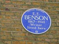 Photo of E. F. Benson blue plaque