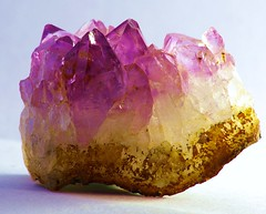amethyst, purple, yellow, mineral, gemstone,