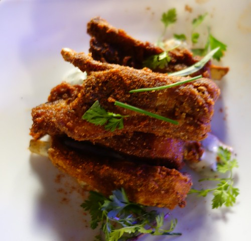 The Disgruntled Chef's Crispy Lamb Shortribs with Cumin & Mint Yoghurt - Savour 2014