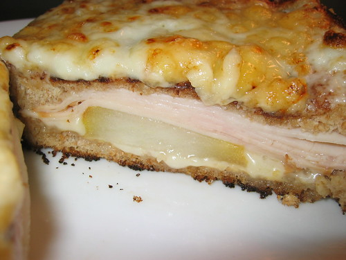 croque monsieur with pear and smoked turkey on closet cooking. Black Bedroom Furniture Sets. Home Design Ideas