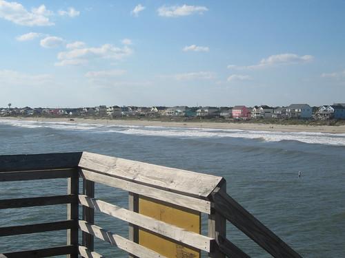 ocean fall beach coast pier northcarolina atlantic shore outerbanks
