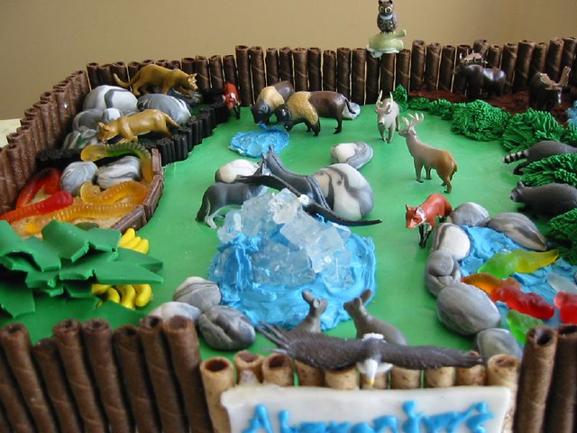 Cake Decoration Zoo : Detail on zoo cake Flickr - Photo Sharing!