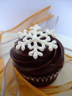 Christmas cupcakes - Snowflake