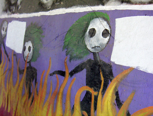 Spooky Skeletons Full Mural