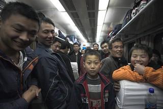China stuffed on a train