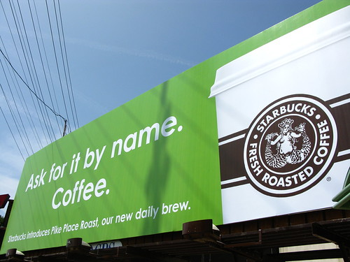 Photo of a Starbuck's Billboard