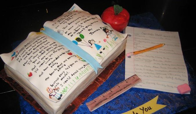 Open Book Cake Design : Open book school cake Flickr - Photo Sharing!