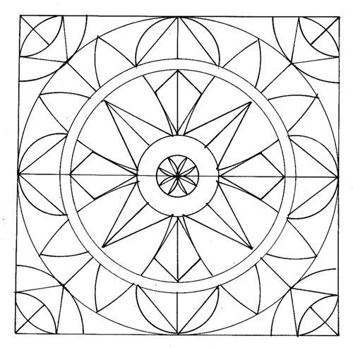 Geometric pattern coloring pages - photo#12