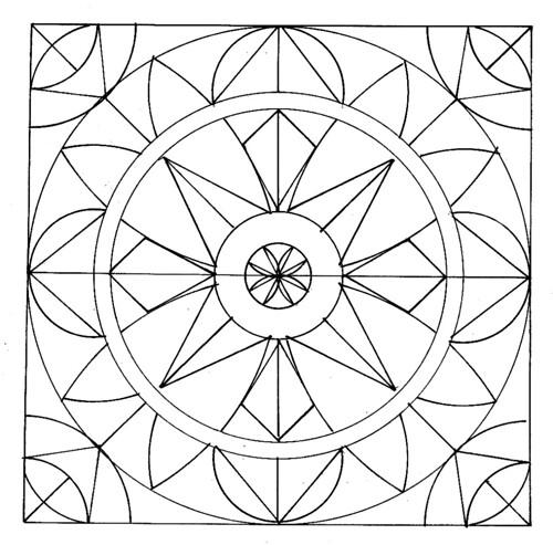 mandala geometric printable coloring pages | Mandala Madness: Mandalas to Color
