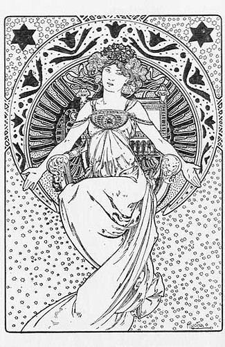 Free coloring pages of nouveau
